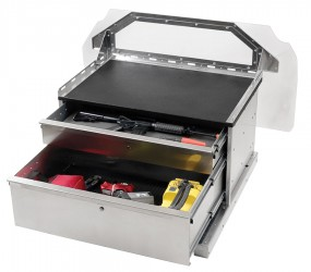 Supervisor stacked drawer with FIU mounting platform and optional partition