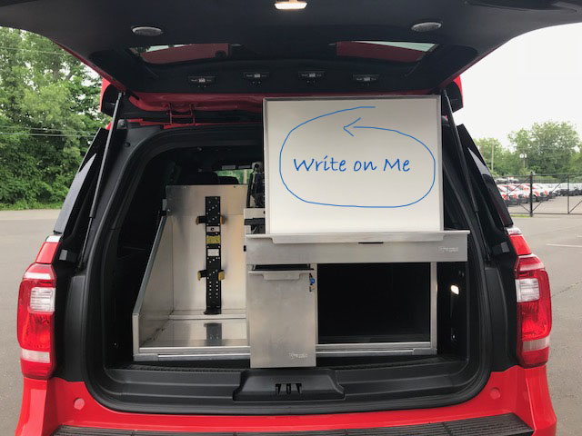 Custom SUV Unit with Whiteboard