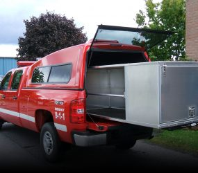 Fire Pickup Truck Storage with Rollout